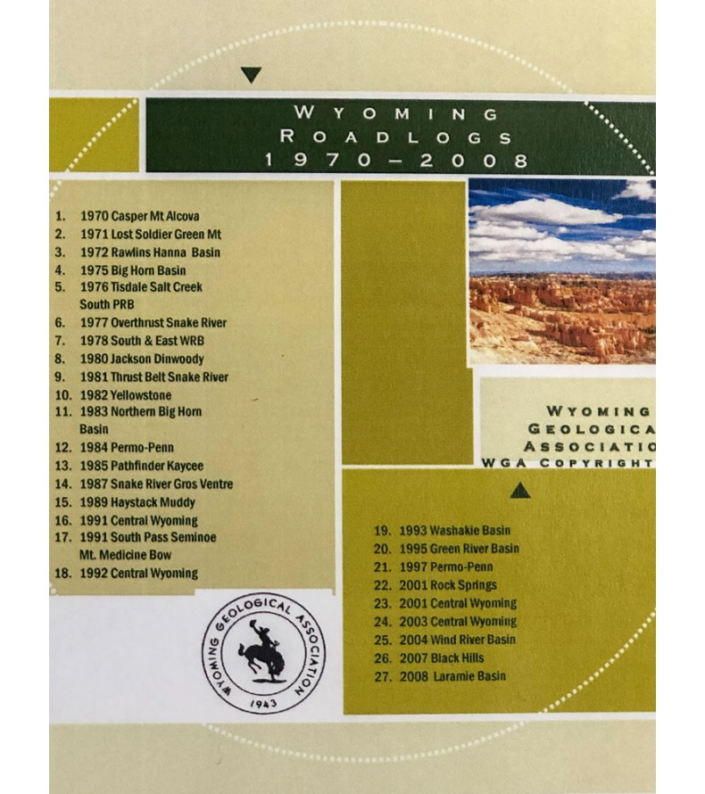1970 - 2008 Wyoming Geological Association Roadlogs on CD